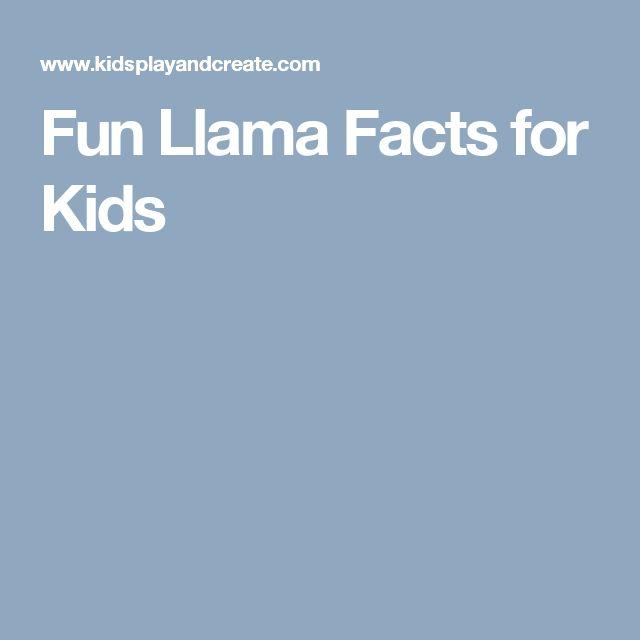 Fun Llama Facts for Kids