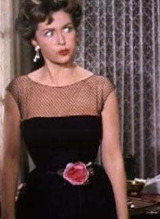 Lilli Palmer in the film The Pleasure of His Company / front view of LBD