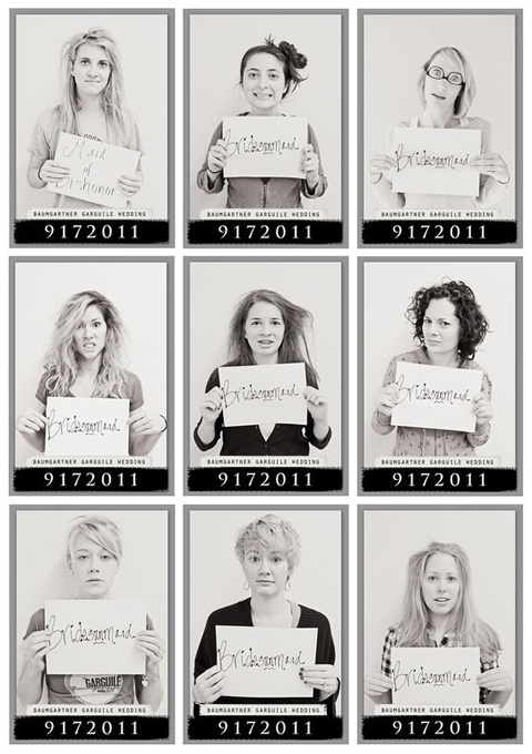 Last Day of Girls Camp Mug Shots. This would be stinking hilarious!