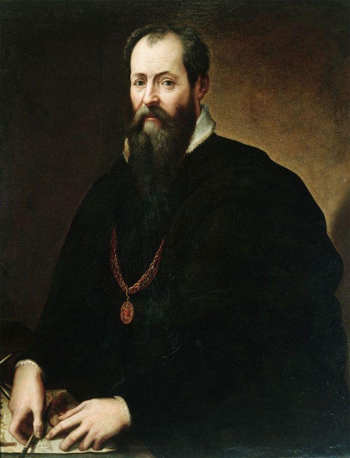 Giorgio Vasari, Autoritratto, Firenze, Galleria degli Uffizi -- Barbara Agosti. 'Giorgio Vasari. Luoghi e tempi delle Vite'