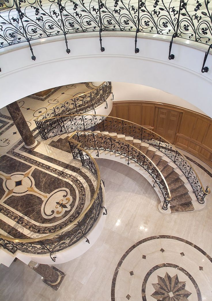 Updown Court England Stair case in marble