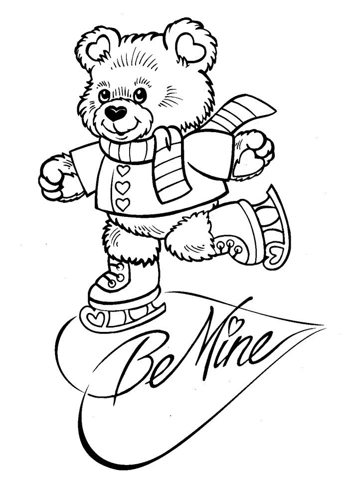 valentine coloring pages be mine - photo #18