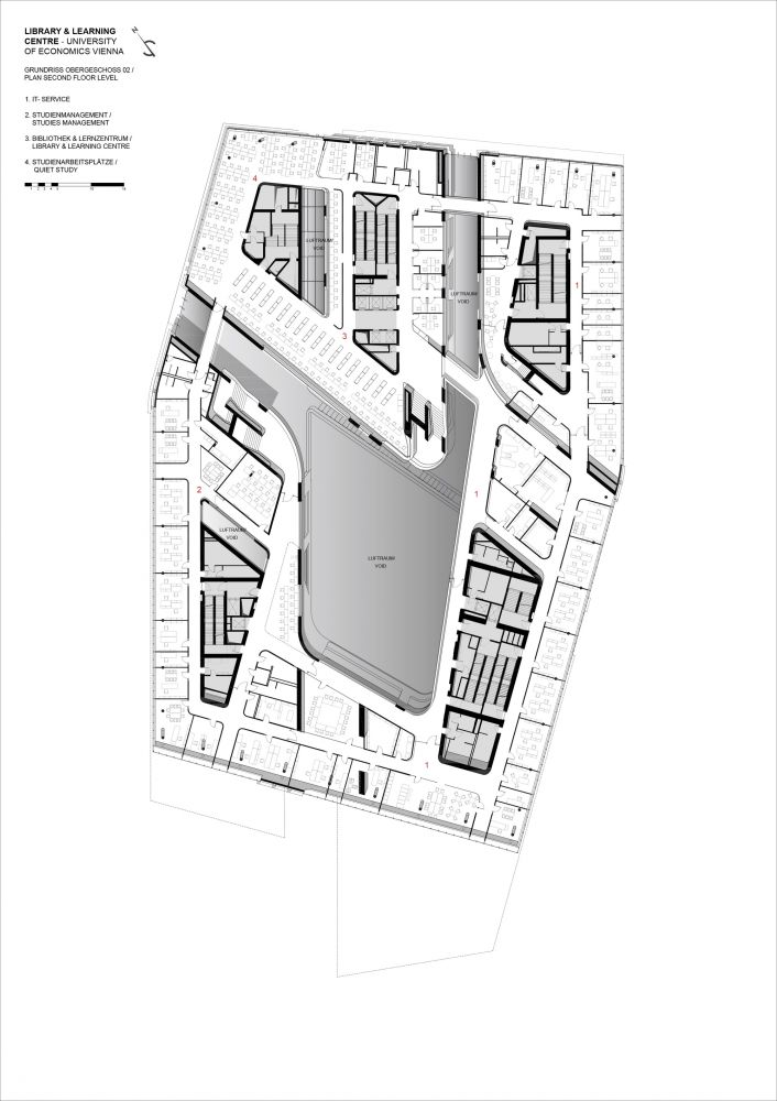 gallery of library and learning centre university of economics vienna zaha hadid architects 74 - Vienna House Plans