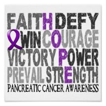Pancreatic Cancer Inspirational Posters, Pancreatic Cancer Inspirational Prints - Zazzle UK