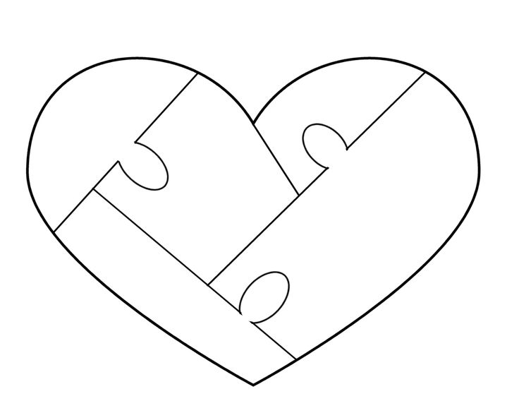 Heart Puzzle Template - free to use