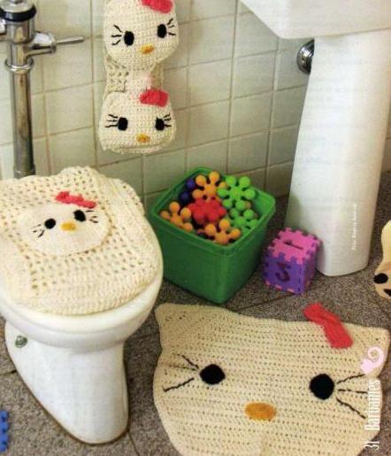 Juego De Baño Navideno Tejido:Diagram Crochet Bathroom Set