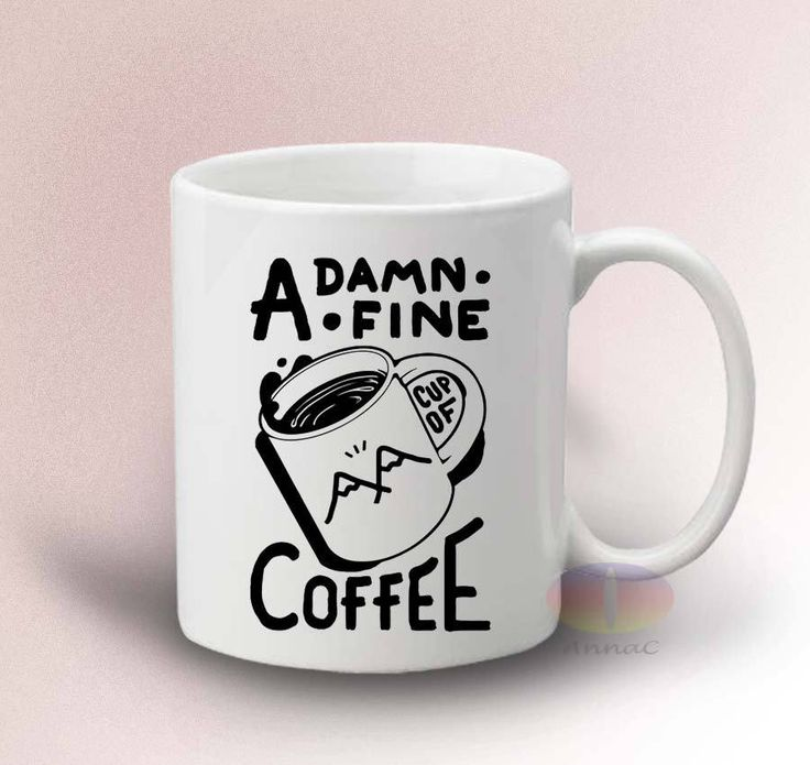 Twin Peaks Damn Fine Cup of Coffee 2 Mug - White 11oz Ceramic Mug