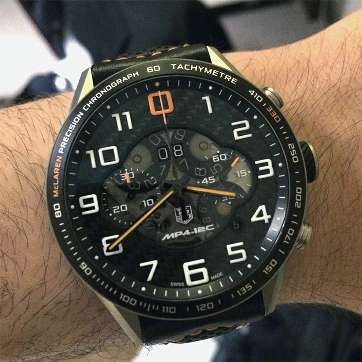 """Baselworld 2014: TAG Heuer MP4-12C - On The Wrist - Meant to """"go with"""" the McLaren MP4-12C super car. See our exclusive Hands-On article about its original release for more info, more TAG watches, and keep up with all our Baselworld 2014 articles here on aBlogtoWatch.com - follow #ABTWBaselworld2014 on all your favorite social media sites"""