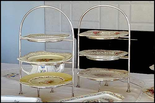 Antique cake stands for party hire napier nz