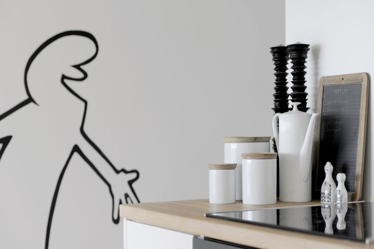 La linea wall art. CPH apartment, 8-tallet. Foto: Images by Langfeldt