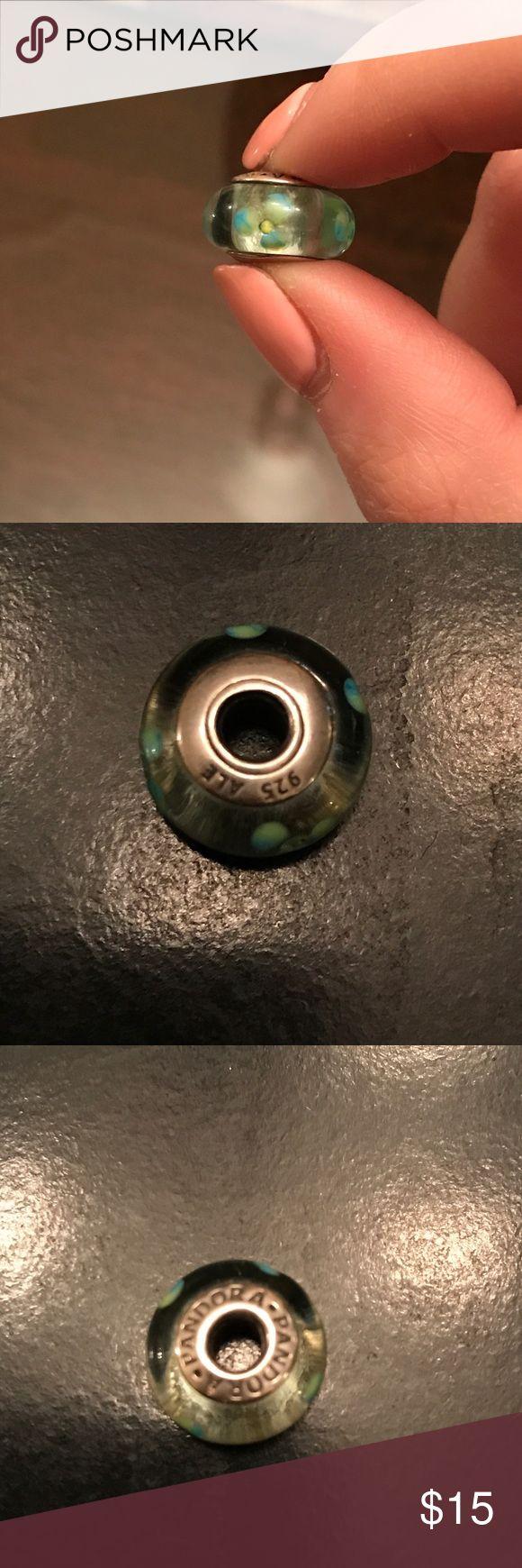 Pandora Glass Bead Charm Glass Flower Beac Pandora Jewelry Bracelets