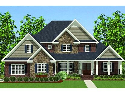 Traditional Home Plan with 3447 Square Feet and 4 Bedrooms from Dream Home Source | House Plan Code DHSW077320