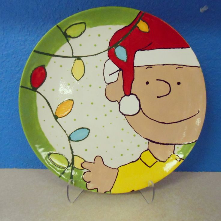 Plate--holidays with Charlie Brown! & 160 best Christmas Pottery Ideas images on Pinterest | Ceramic ...