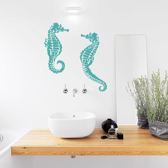 Seahorse Wall Decal Seahorse Decal Seahorse by WallumsWallDecals