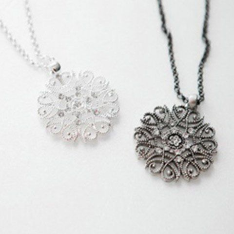 Bohemia Girl's Hollow Flower Pendant Necklaces (ONE PIECE)Necklaces | RoseGal.com