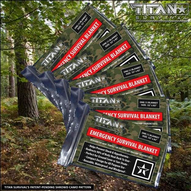 Titan Emergency Survival Blankets | Amazing Amazon Deals for Your Survival Kit Under $20
