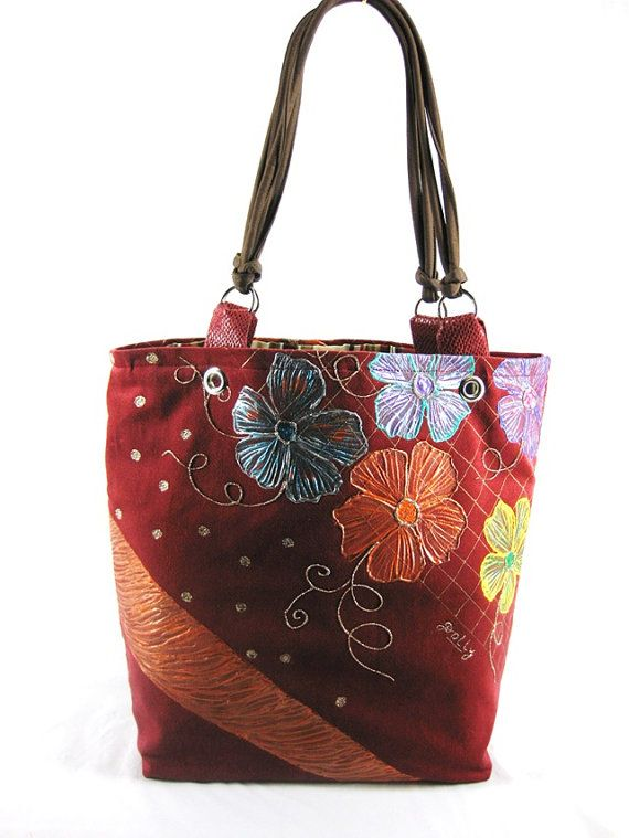 Petals of Wonder: Designer Handcrafted Hand Painted Woman's Fashion by ArachneStyle, $120.00