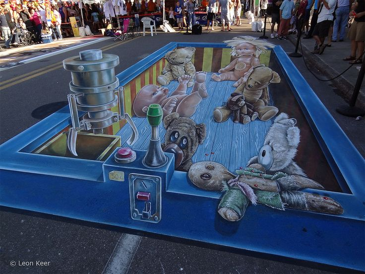 3d street painting at Chalkfestival Sarasota 21012