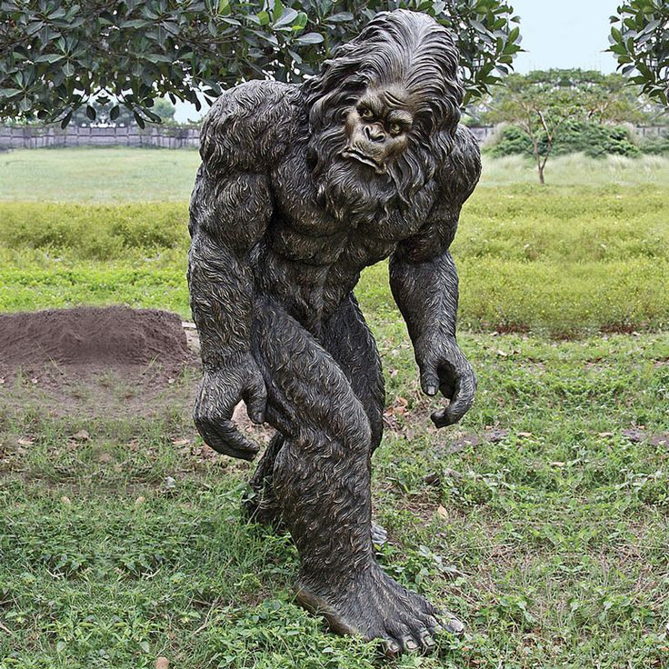 The search for the mysterious Bigfoot is over. Now you can take pictures and capture all the grainy footage you want when you give this cool new Lifesize Bigfoot Statue a home in your yard. This monstrous 6 foot Sasquatch statue is highly detailed and realistically hand-painted, well as realistic as a mythical creature can be, and weighs in around 150 lbs. A cool decorative landscape accent for those who believe in the reclusive Yeti or could be used for some interesting practical jokes…