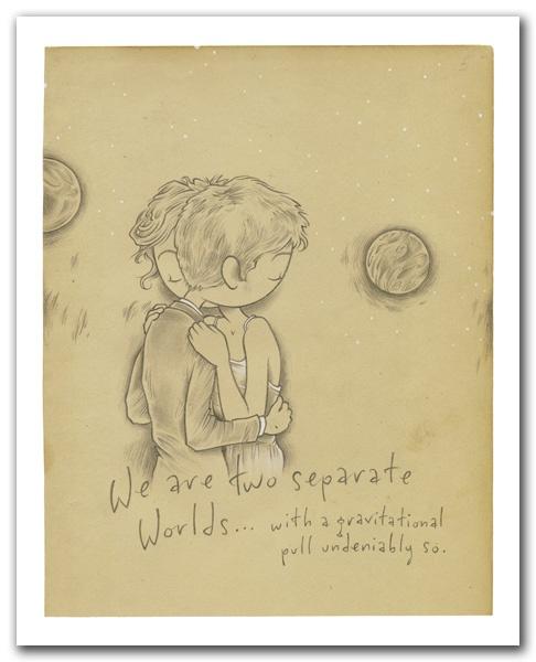 "Kurt Halsey - Worlds collide then balance print    medium: archival print  dimensions: 8"" x 10"" $20 shipped"