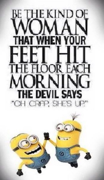Hehe, watch out here she comes, and let's just hope she has her devilish mind on today!