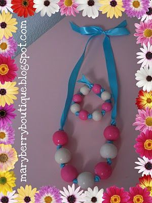 gumball necklace and bracelet
