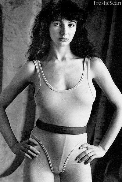 Kate Bush - 70s leotard icon. And strumpet. (Note: I am NOTadvocating going 'untrammelled' under your leotard. That would be madness.)