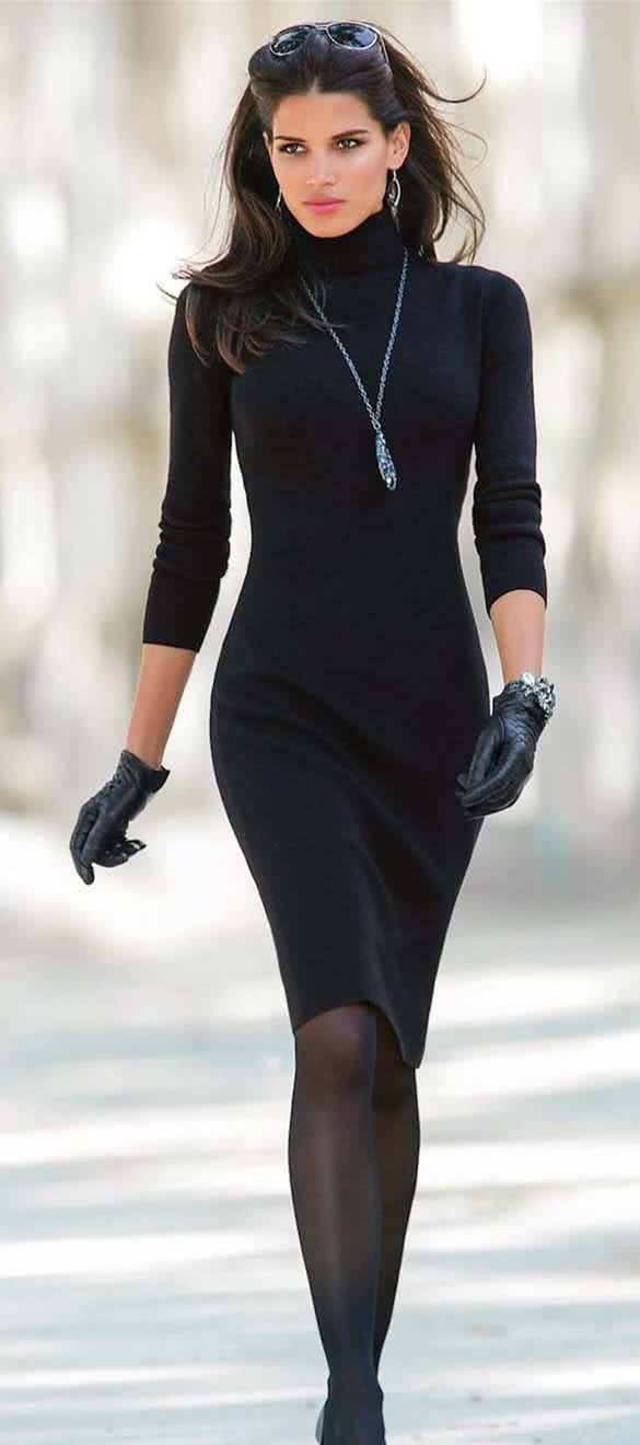 Sheath Sweater Dress.