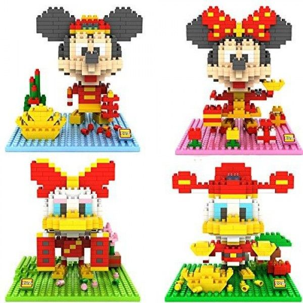 """Gooband® LOZ Diamond Blocks Mickey Mouse Compatible Nano Block Parent-child Games Building Blocks Children's Educational Toys New Year Model 4pcs a set  """"Micro-sized #building #blocks will enable you to execute even the finest details like never before *A 3D work of art that fits in the palm of your hand, create details with assorted sizes and colored pieces. *Collect, build and display your works of art."""