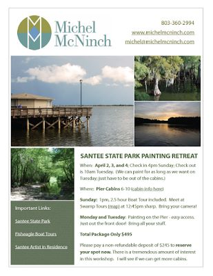 Michel McNinch: Come get Inspired with Me!  Santee State Park Work...