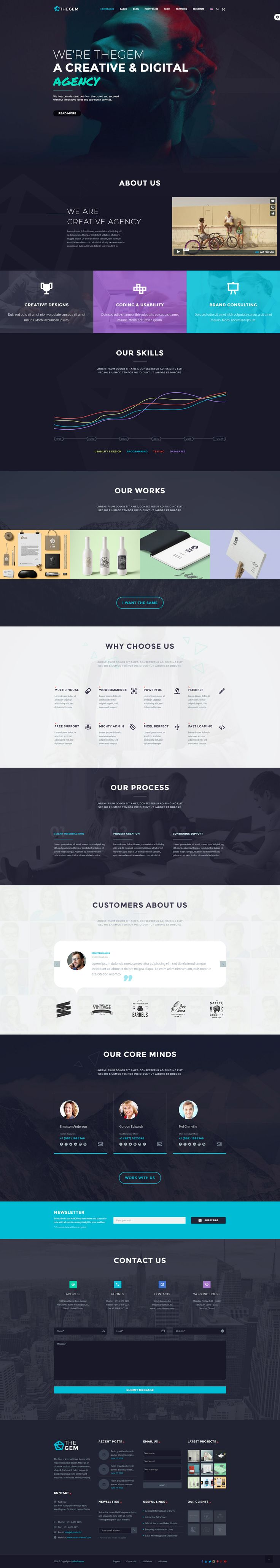 """Check out my @Behance project: """"Creative Web Theme"""" https://www.behance.net/gallery/50418641/Creative-Web-Theme"""