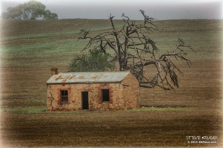 "Abandoned ruins near Stone Hut, In the Flinders Ranges, between Melrose and Laura in South Australia. This hut always reminds me of the hut on the cover of Midnight Oils ""Diesel and Dust"", which of course it's not. That was a cottage that is on a sheep grazing property outside of Burra SA."