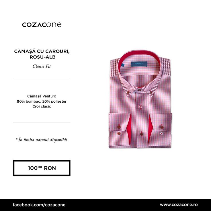 Carourile gingham fac cinste stilului smart casual bine exersat: http://www.cozacone.ro/produse/detalii/camasa-button-down-rosu/