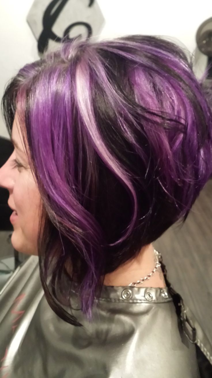 Purple Highlights For Summer Pretty Designs Of Hair Color ...