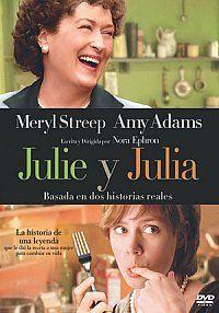 """Julie y Julia [Vídeo (DVD)] / escrita y dirigida por Nora Ephron. Sony Pictures, D.L. 2009.  Baseada en dúas historias reais, narra a historia de Julie Powell, unha moza que decide dedicar un ano a preparar todas as receitas de """"Dominando a Arte da Cociña Francesa"""", clásico libro de cociña da afamada cociñeira Julia Child."""