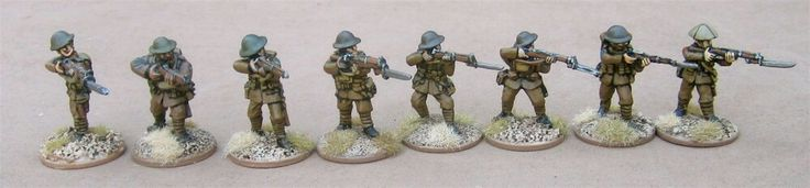 Firing (from left to right): one of my own, Renegade Miniatures, Great War Miniatures, 1st Corps,  Gripping Beast/Woodbine Design, Old Glory, Irregular Miniatures, and Wargames Foundry.