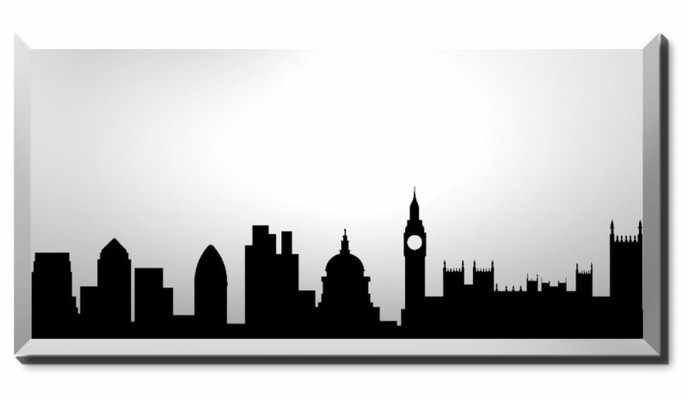 London Silhouette Skyline These might be the types of silhouettes we could use for the flying scenes between the nursery and Neverland (1-2)
