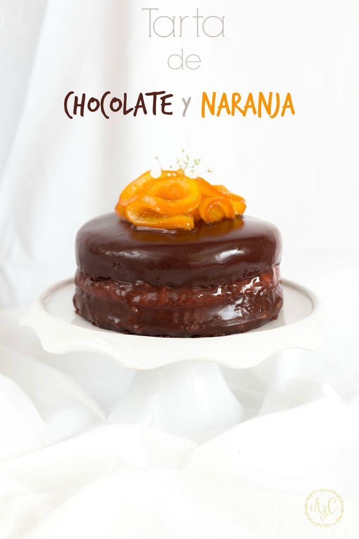 tarta de chocolate y naranja sin gluten, tarta con naranja confitada, tarta de chocolate sin gluten, tarta con harina de almendras