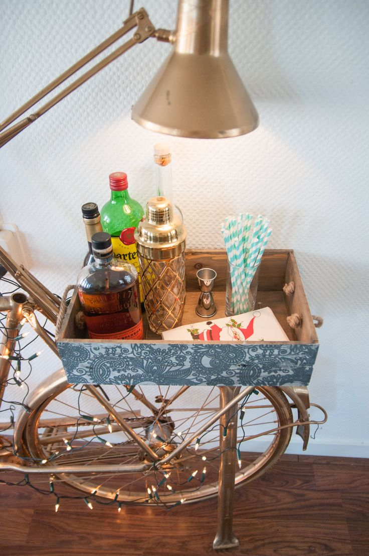 Bar cart essentials.