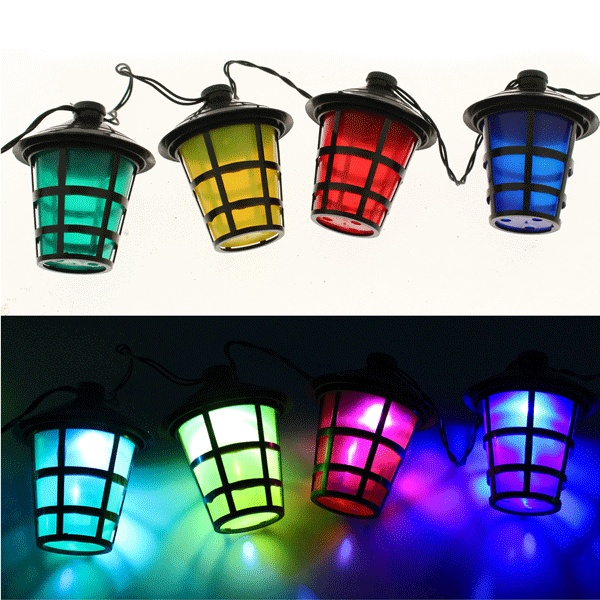 New 40 White LED Bulbs With 40 Multicoloured Lanterns Christmas Decoration Lights