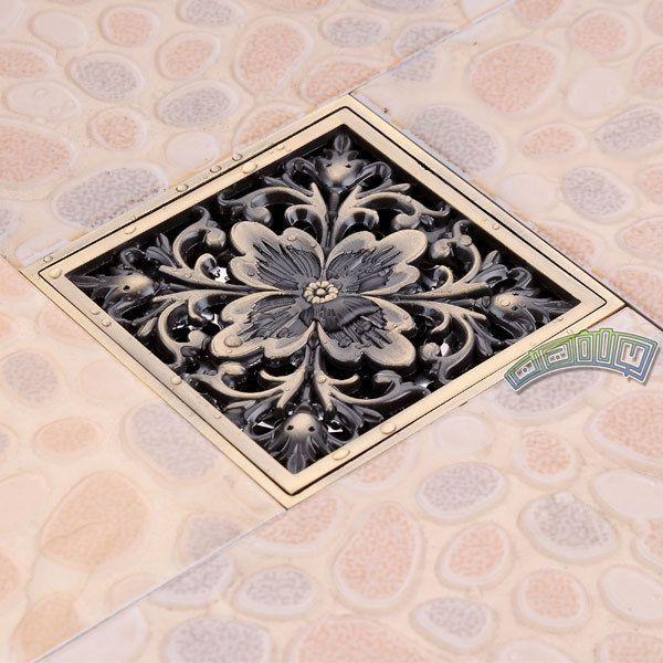 european carved square bathroom shower drain floor waste drain cover strainer ebay