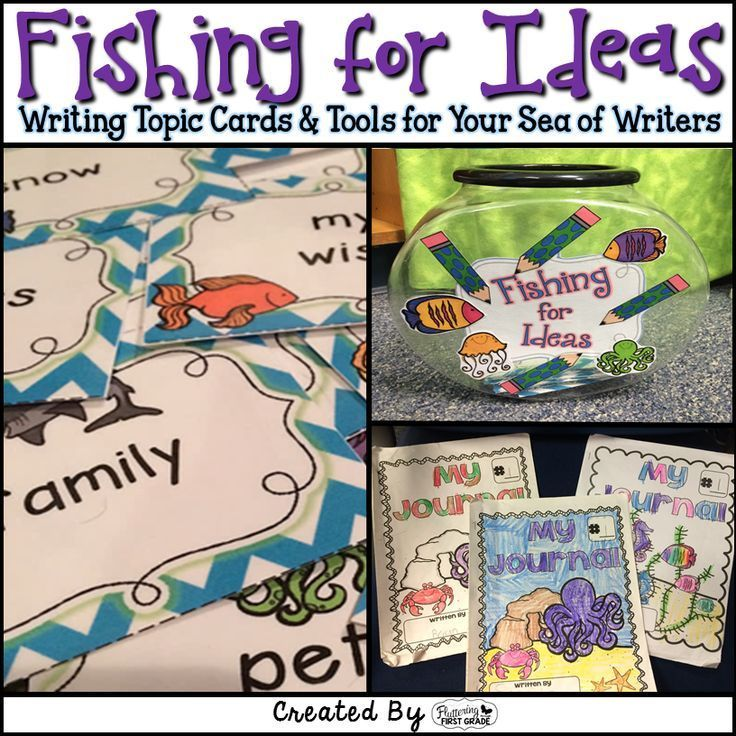 Writing doesn't have to be challenging when you can fish for ideas! Writing topic cards and tools for developing writers.