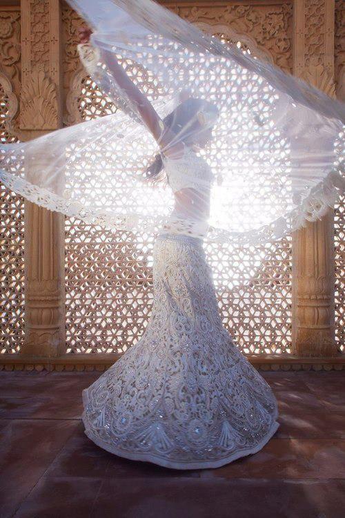 White dress with beading