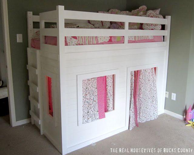 Playhouse Loft Bed {Little Girl's Room} – East Coast Creative Blog