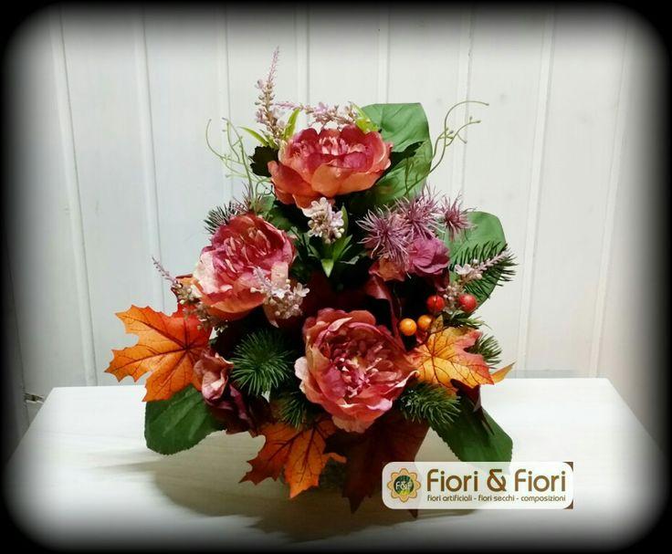 Composizione con magnolia, pino, xanthium e quercia autunnale !!!
