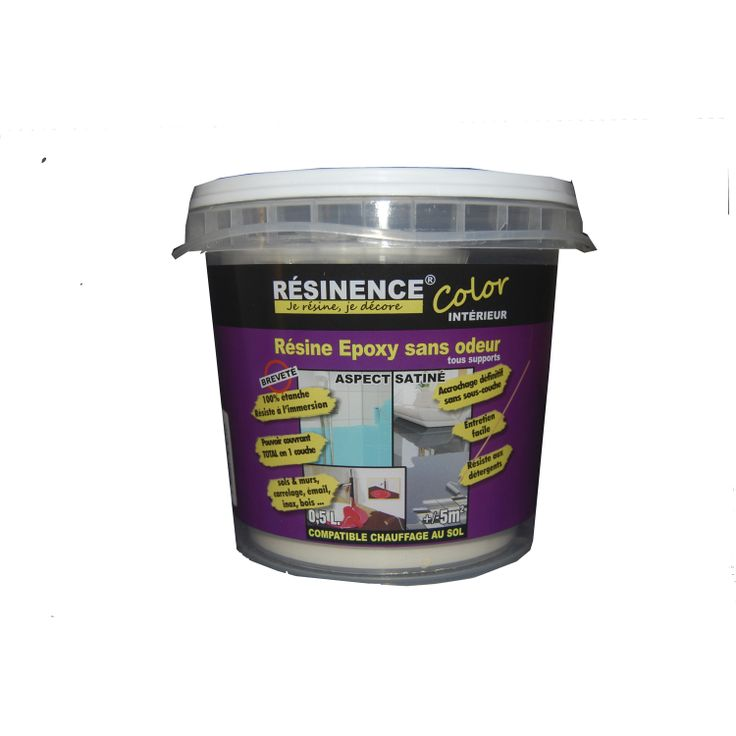 R sine color e carrelage mur sol mobilier resinence color gris taupe 0 5 l litre for Peinture resinence color