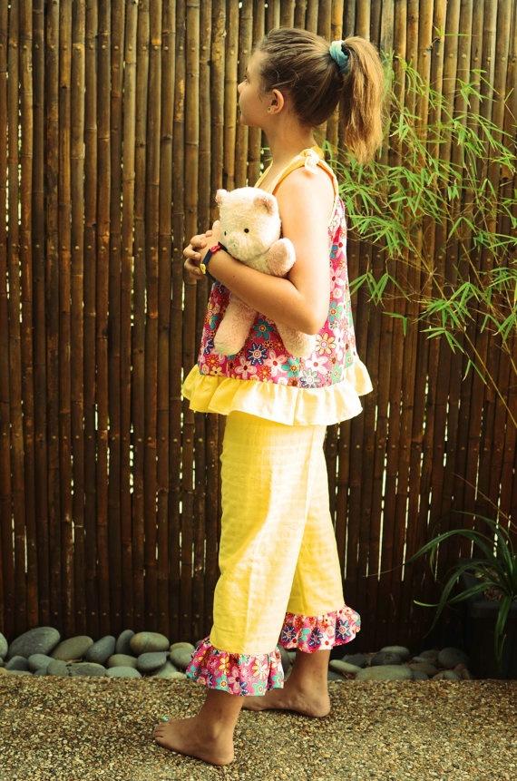 Fun cute swing top pajama set by FudgieBudgie on Etsy, $55.00