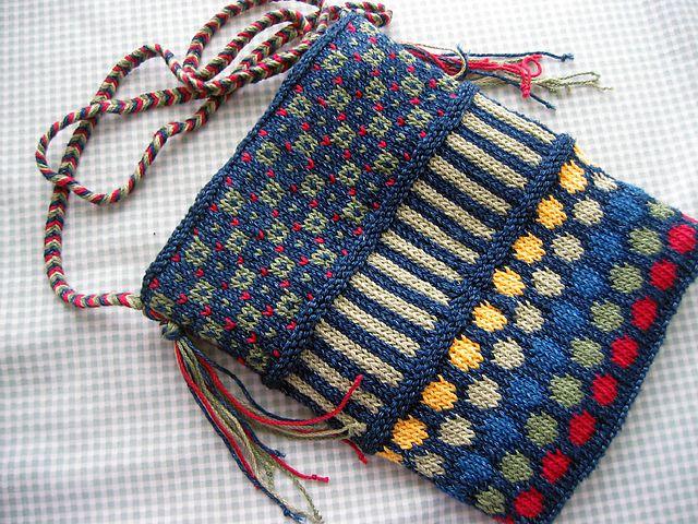 Ravelry: Dots and Stripes purse pattern by Patti Henry