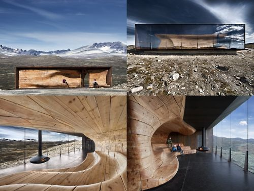 Dovrefjell National Park, Norway - Reindeer Spotting Pavilion by Snohetta Architects