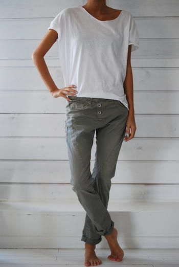 PLEASE JEANS - KHAKI - THIN